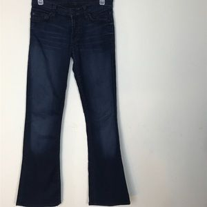 7 For All Mankind- Dark Wash Skinny Bootcut Jeans